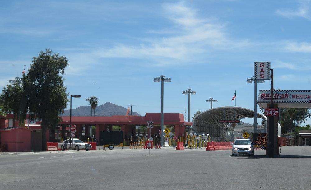 Border control in Lukeville, AZ and Sonoyta, Sonora, Mexico.