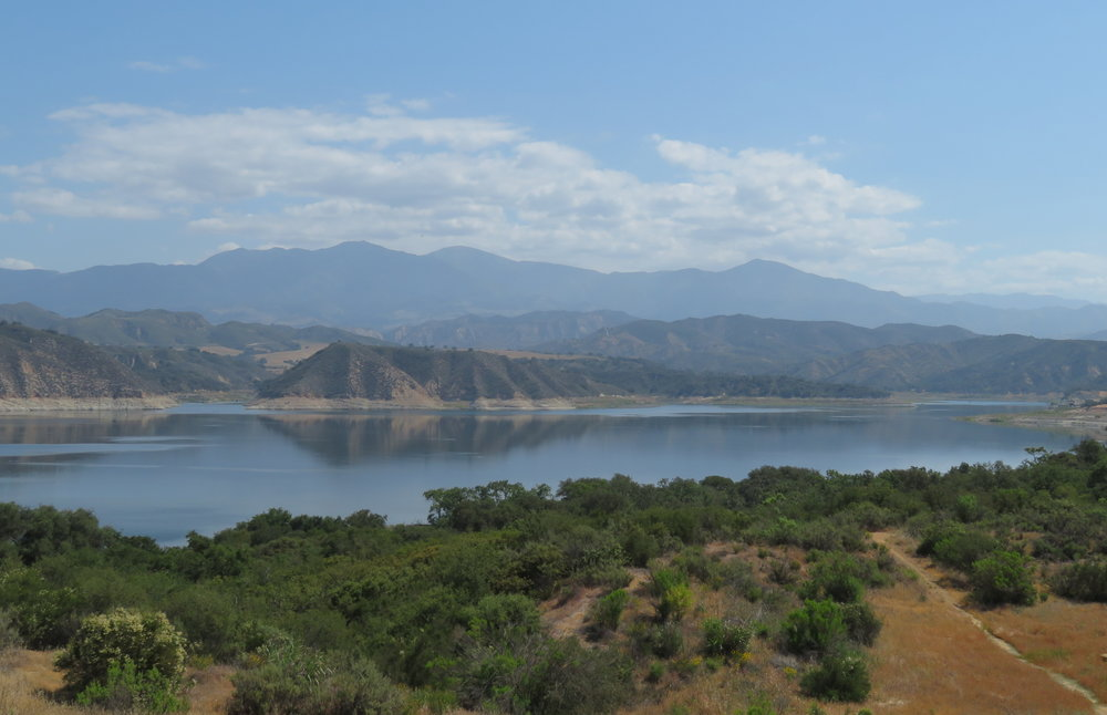Cachuma Lake was a scenic spot for a morning break.