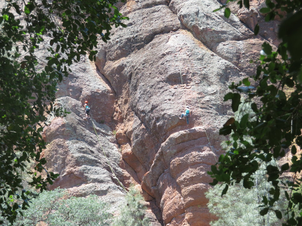 Look closely - rock climbers!