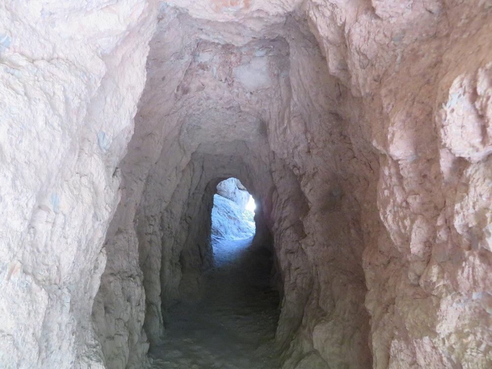 Through tunnels ...