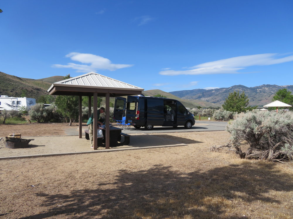 Washoe Lake State Park campsite