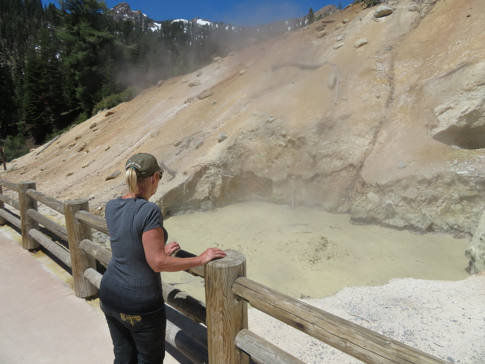 Boiling mudpots and hissing fumeroles at the Sulphur Works