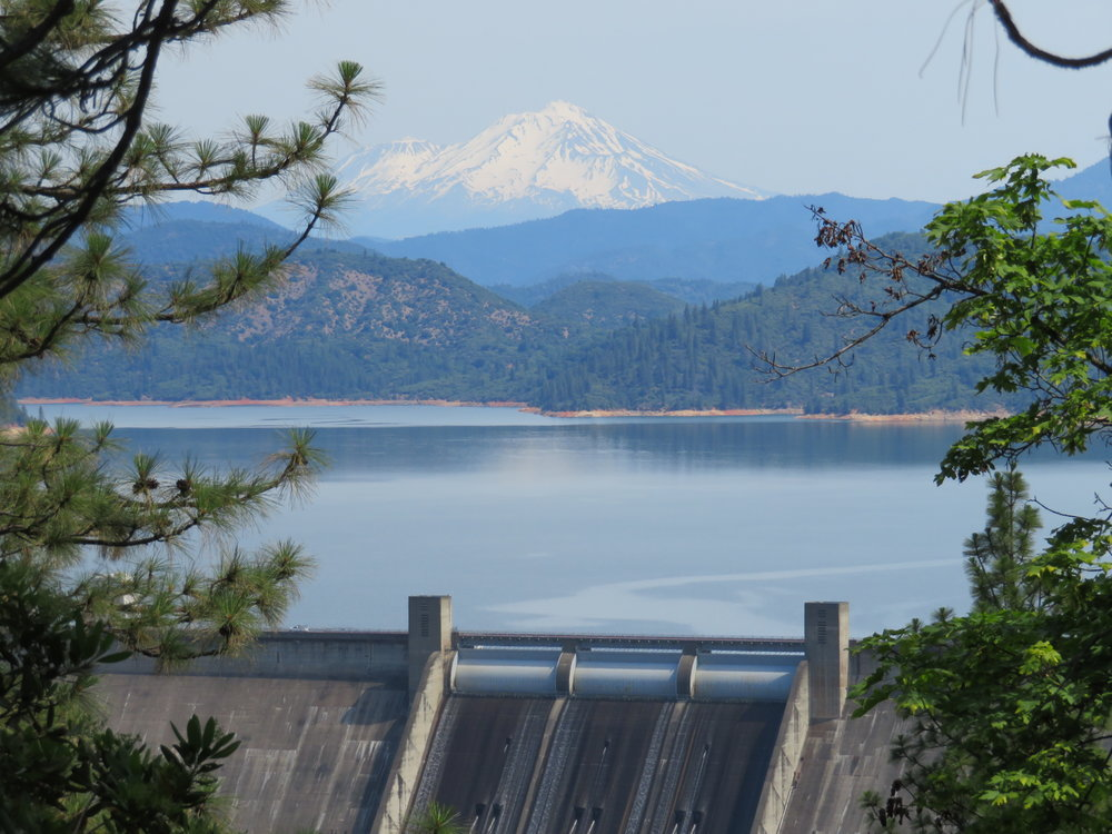 Three Shastas - Shasta Dam, Shasta Lake and Mount Shasta