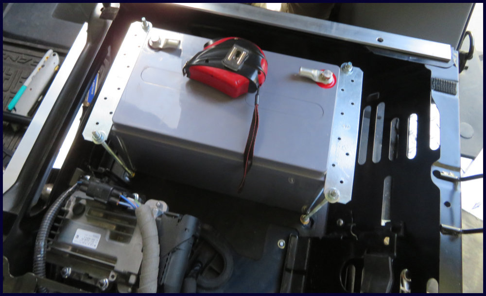 Adding a battery under passenger seat