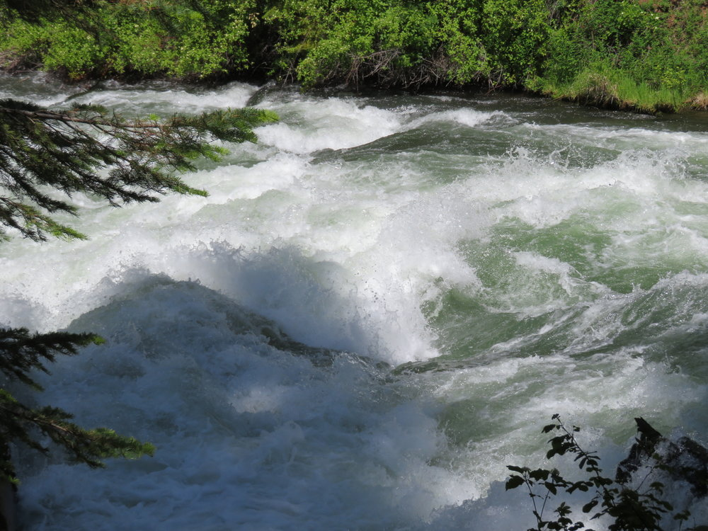 Roiling waters of the Deschutes River at Benham Falls