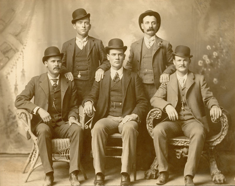 Sundance (sitting,far left) - Butch Cassidy (far right)