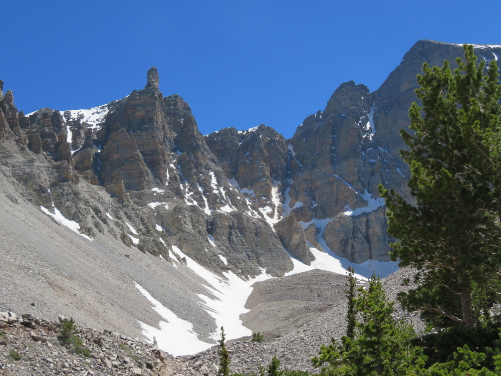 We continued on to view a diminishing rock glacier nestled in a ravine below Wheeler Peak.