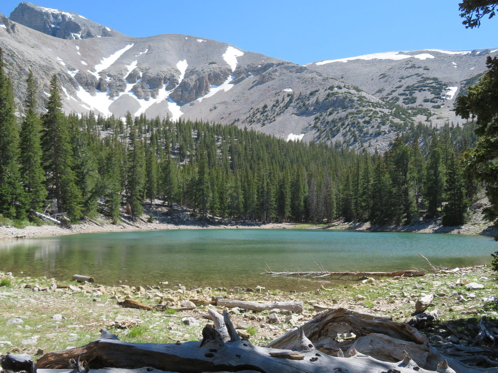 On the return, we took a slight detour to Teresa Lake, then made our rocky descent back down the trail to Blue.