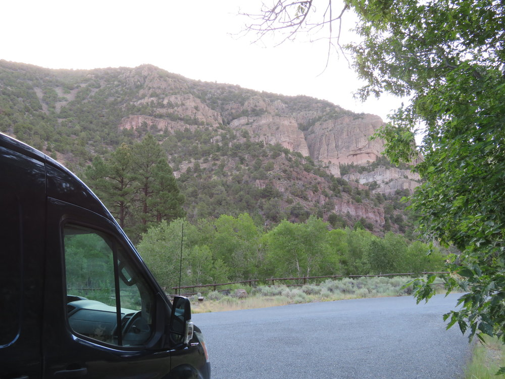 Thunder reverberated off the canyon walls at Little Cottonwood Campground.