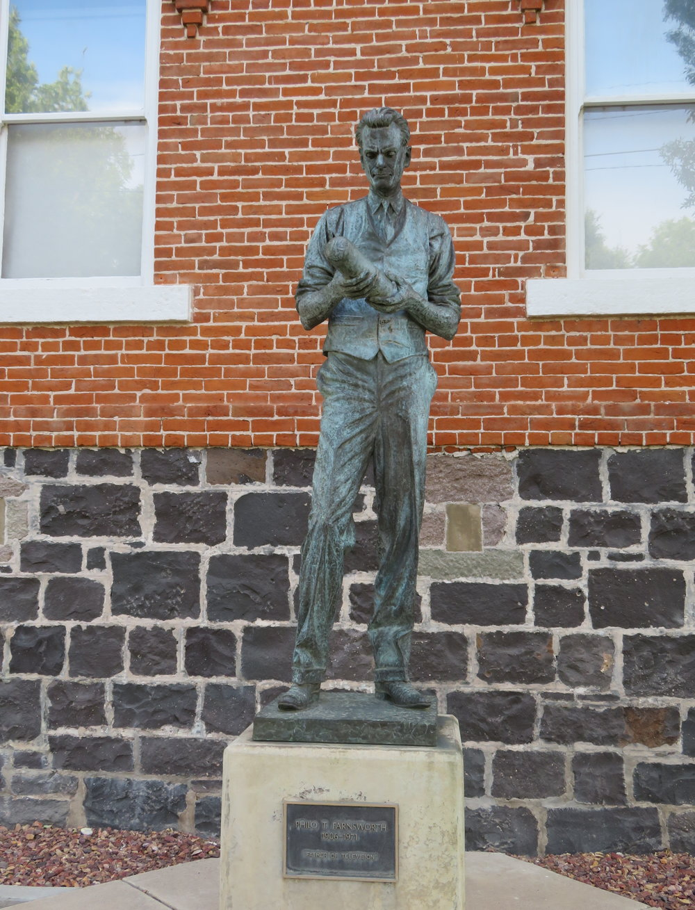 Philo T. Farnsworth statue, Beaver, UT - Father of Television