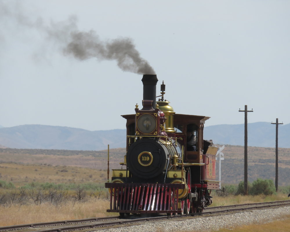 Then the Union Pacific's #119 chugged into the station.