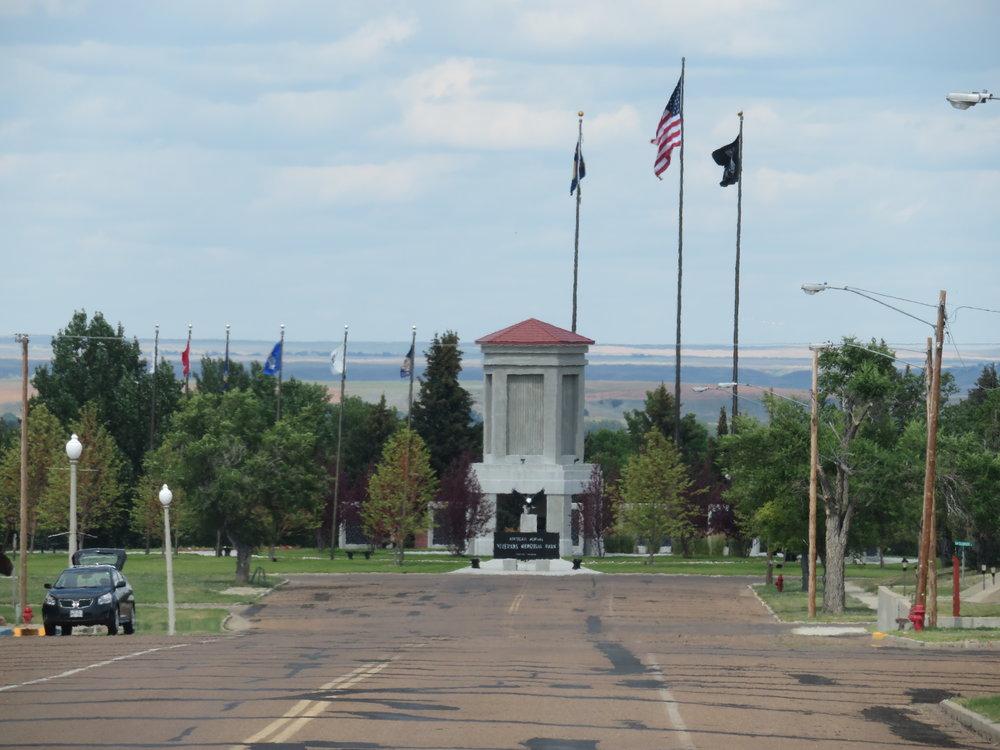 Tiny Fort Peck had a huge Veteran's Memorial.
