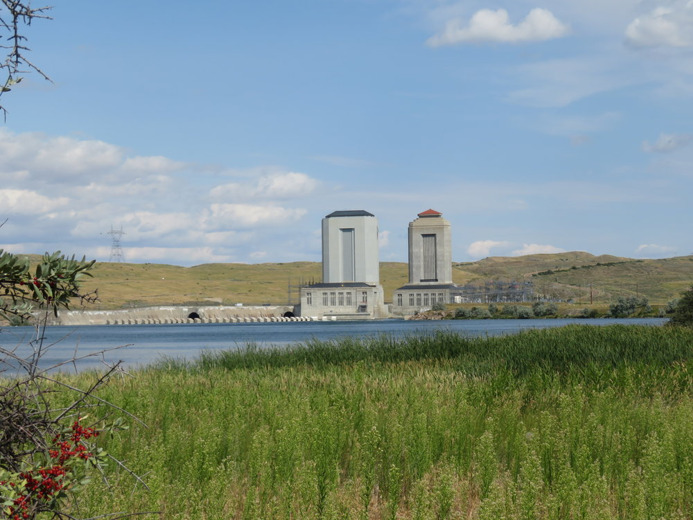 Power stations at Fort Peck Dam