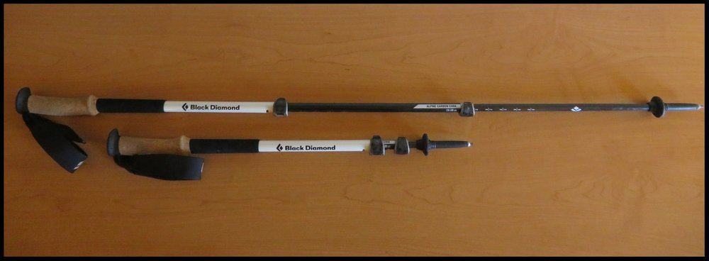 Our Alpine Carbon Cork trekking poles