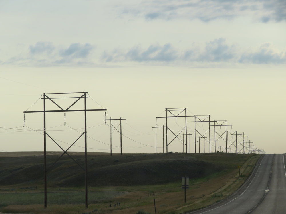 Power lines for miles and miles