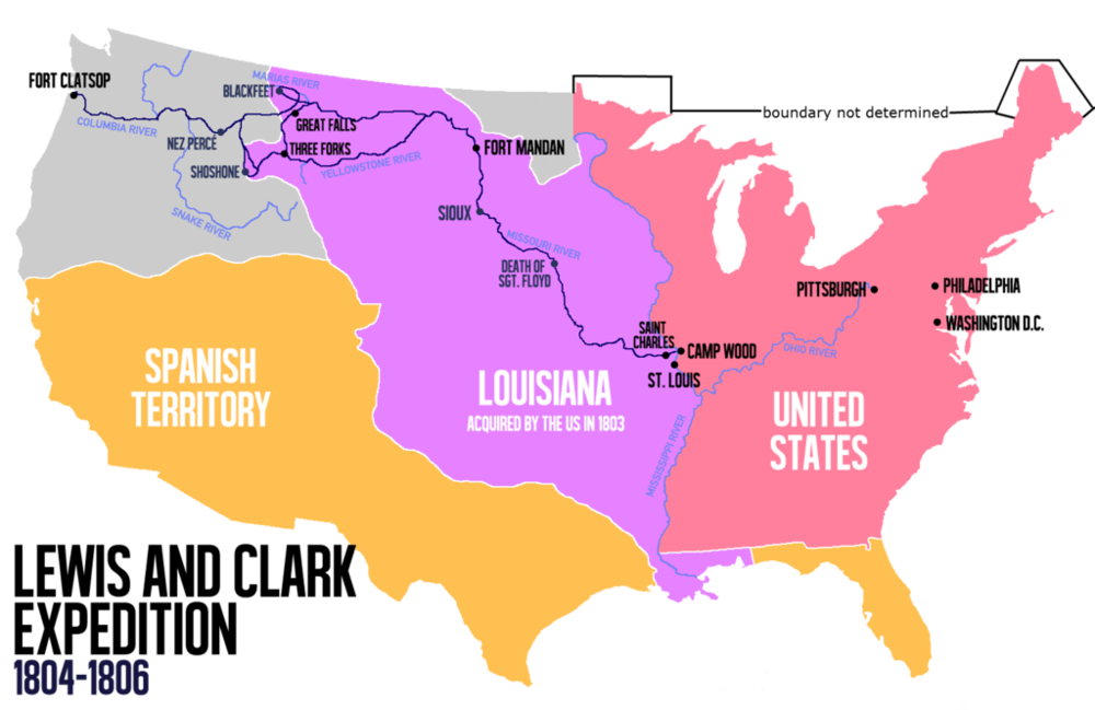 Interesting that Jefferson made the Louisiana Purchase in 1803   before   he commissioned Lewis & Clark to explore what he'd bought.