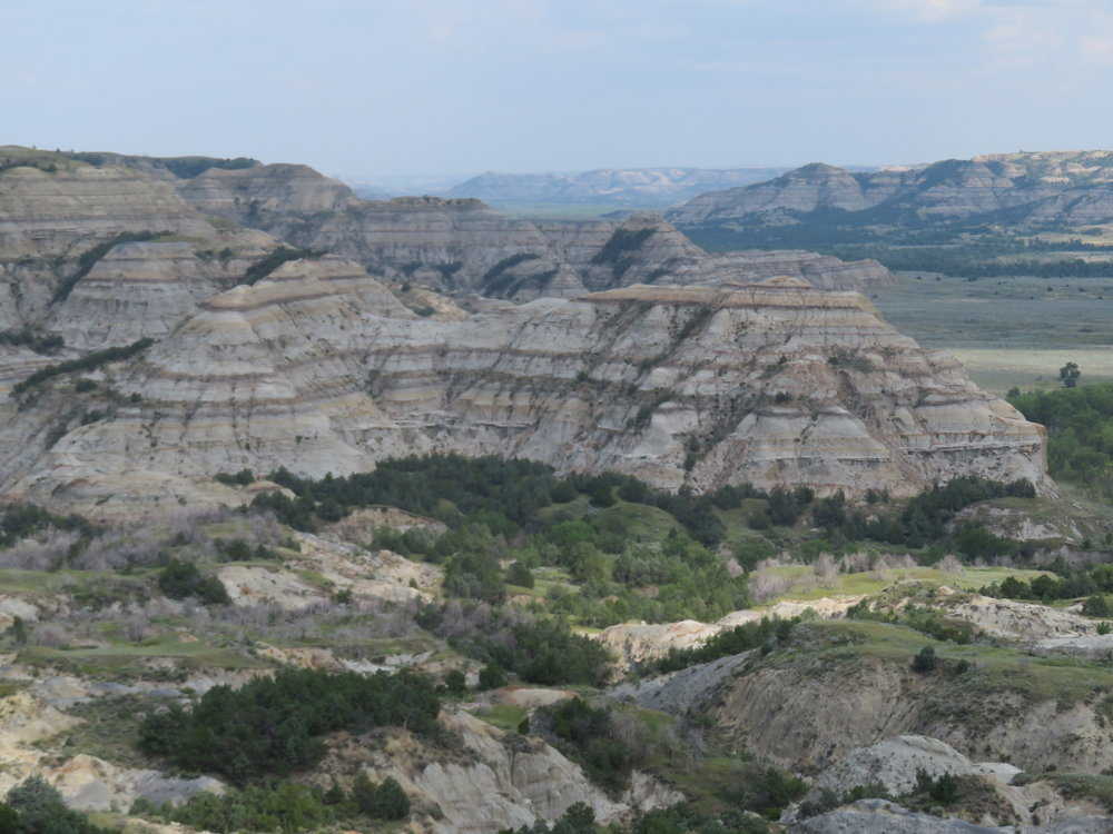 Scenic view of the Badlands - Theodore Roosevelt National Park, North Dakota
