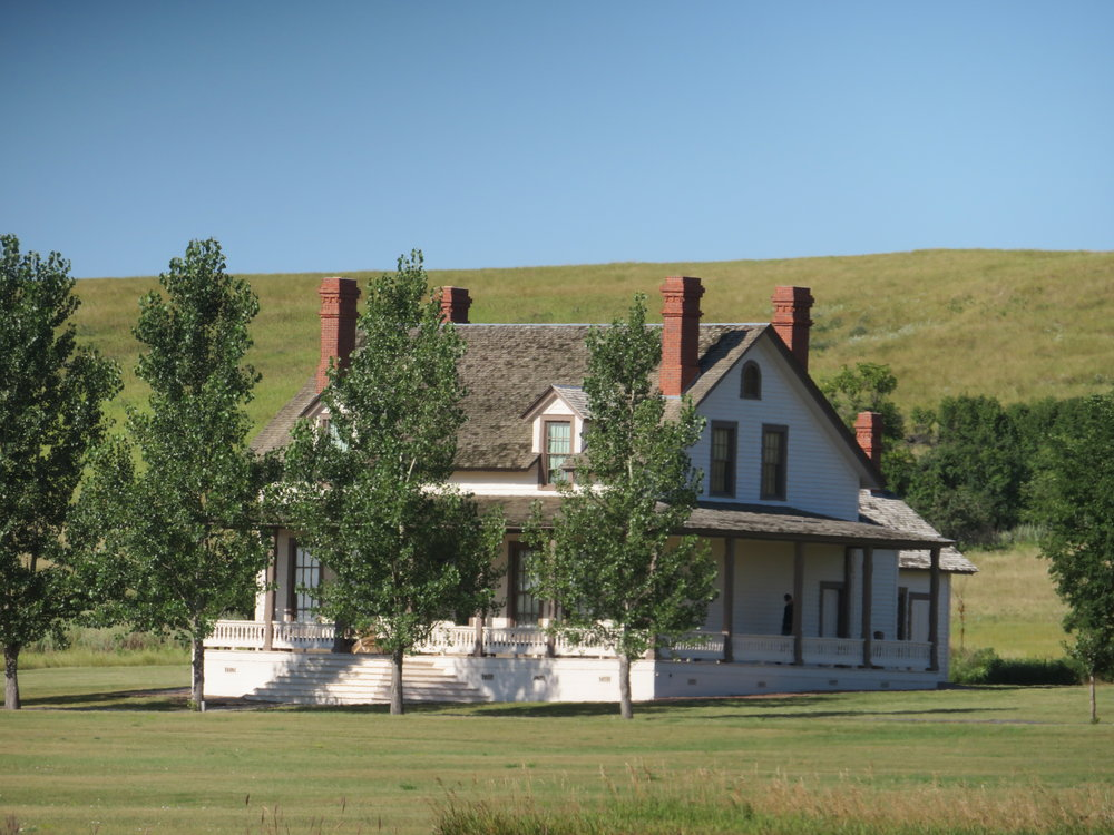 George Custer's house while he was stationed at Fort Abraham Lincoln