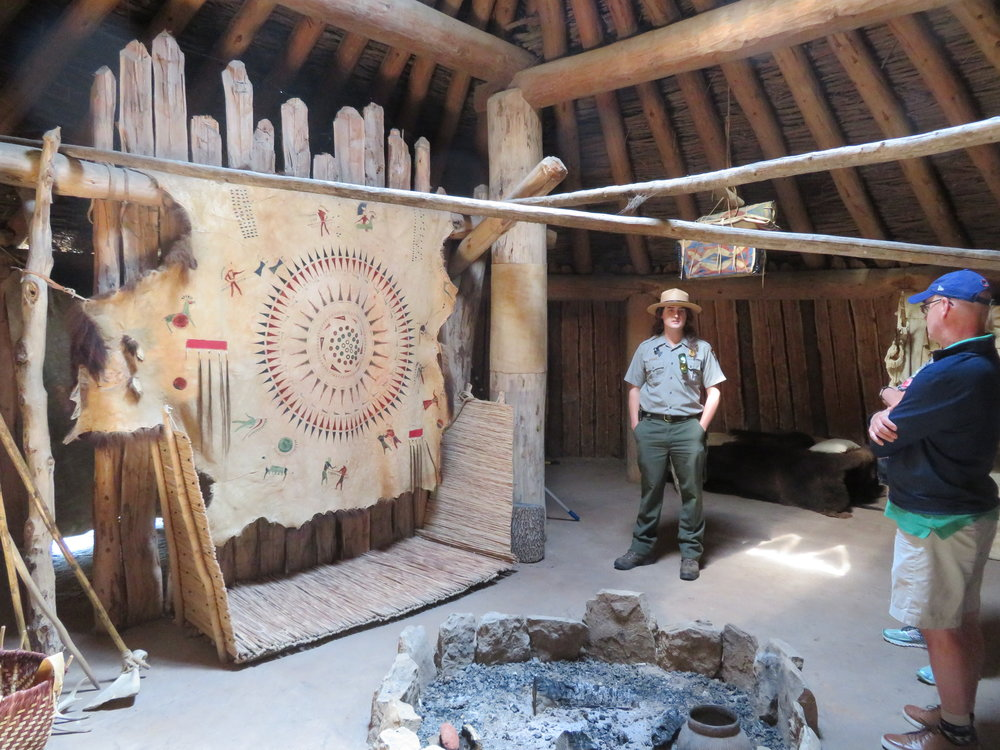 Inside the earthlodge