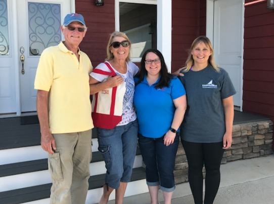 L-R: David, Marcie, Karla & Brenda at Good Old Boat World Headquarters