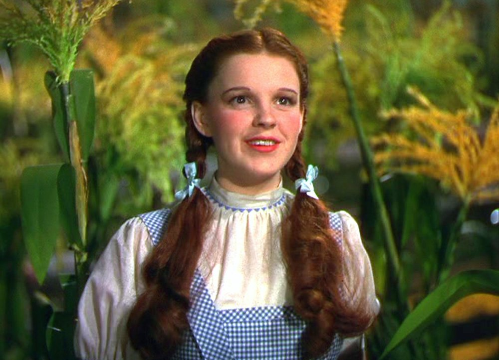 Judy Garland as Dorothy Gale in the classic, Wizard of Oz