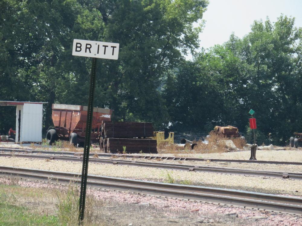 Rail crossing at Britt, Iowa