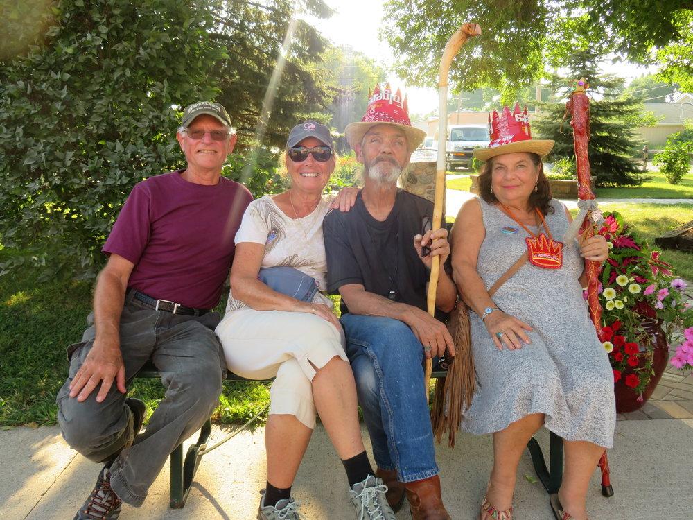 David & Marcie pose with King Tuck & Queen Minnesota Jewel.