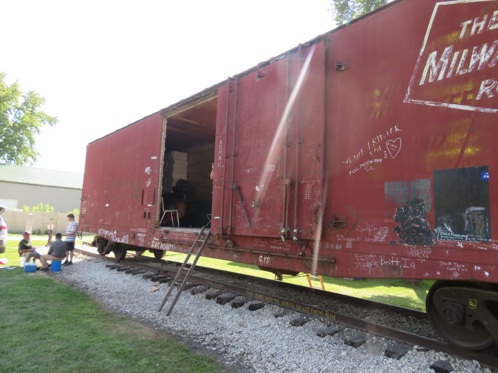 An old boxcar was home to some.