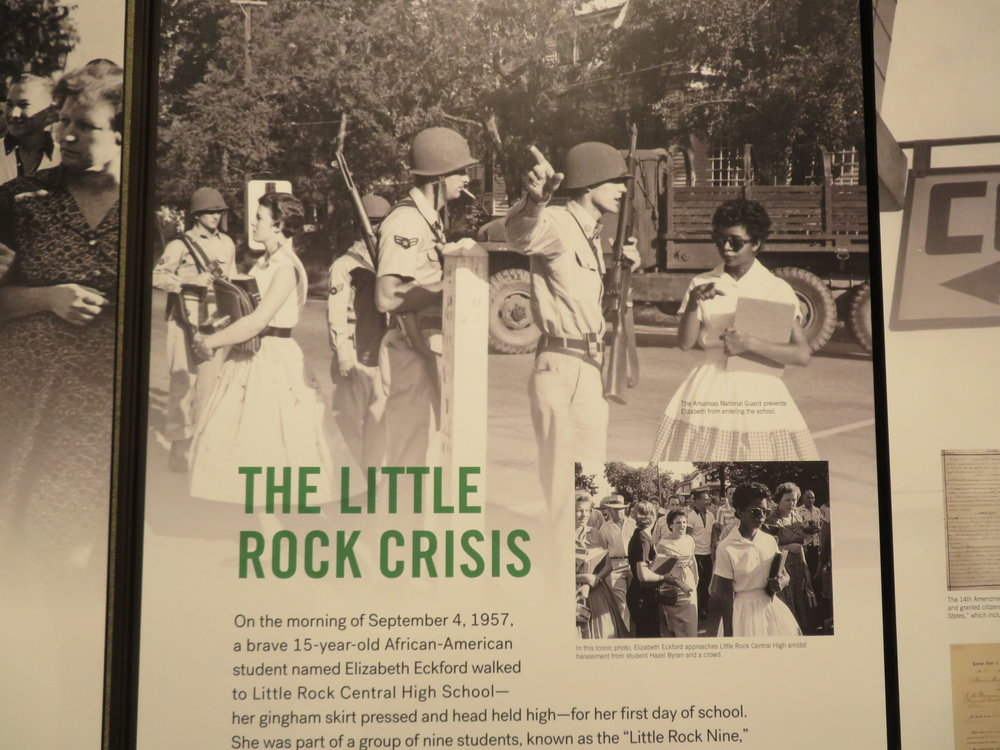 Another example of unsung heroes was the story of the Little Rock Nine and the few whites that befriended them.