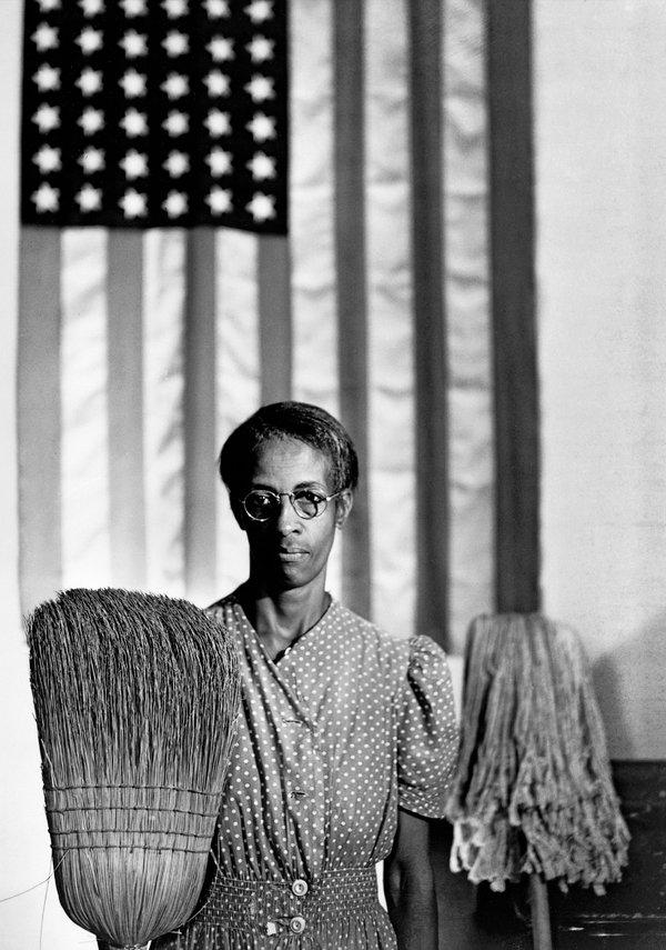 Gordon Parks' photo of Ella Watson: American Gothic