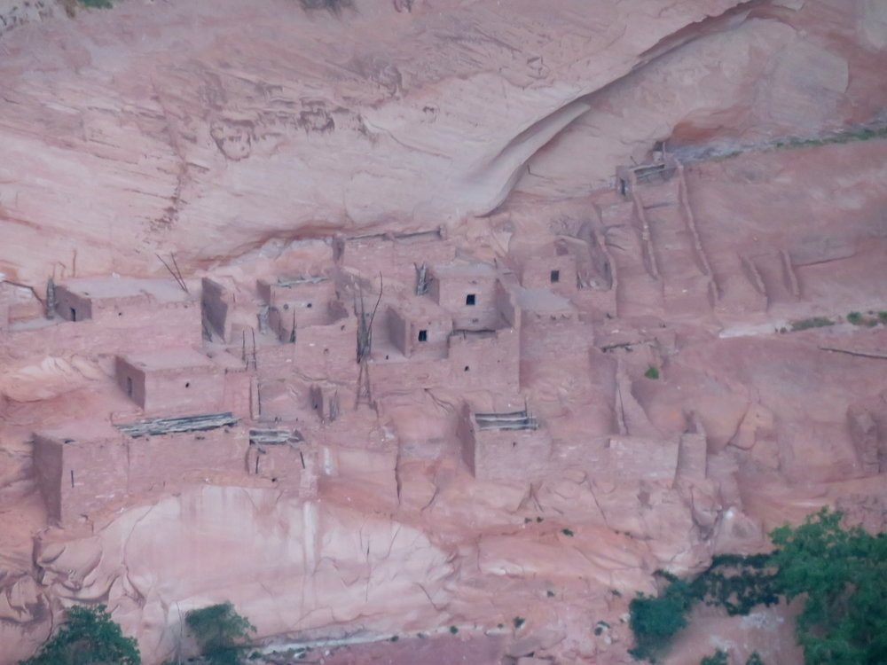 Ancient cliff dwellings in Betatakin Canyon
