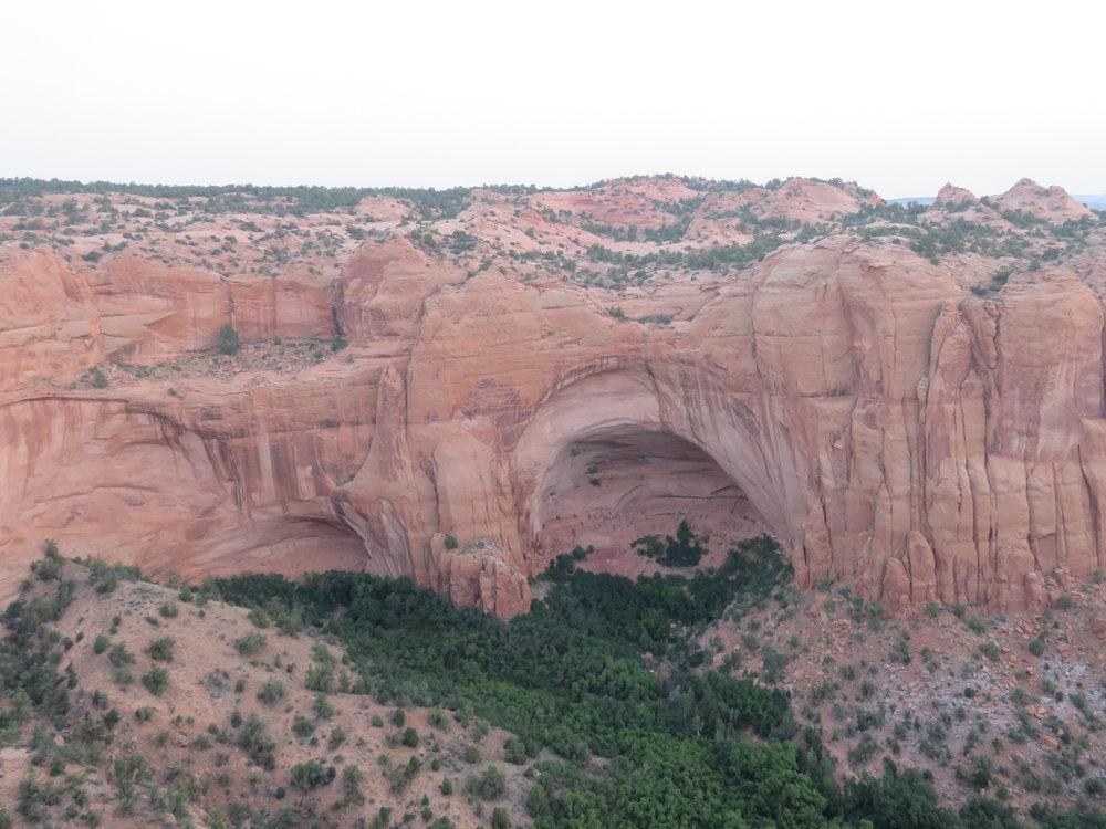 Natural sandstone arch