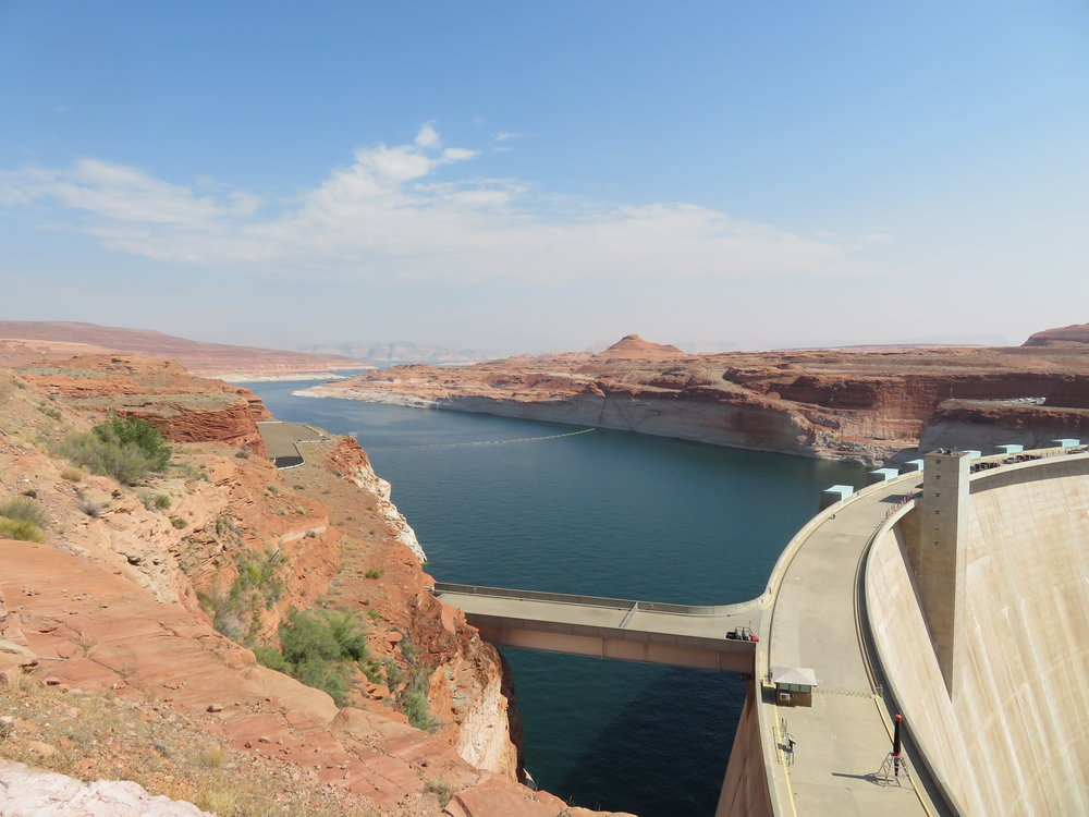 Lake Powell view behind the dam.