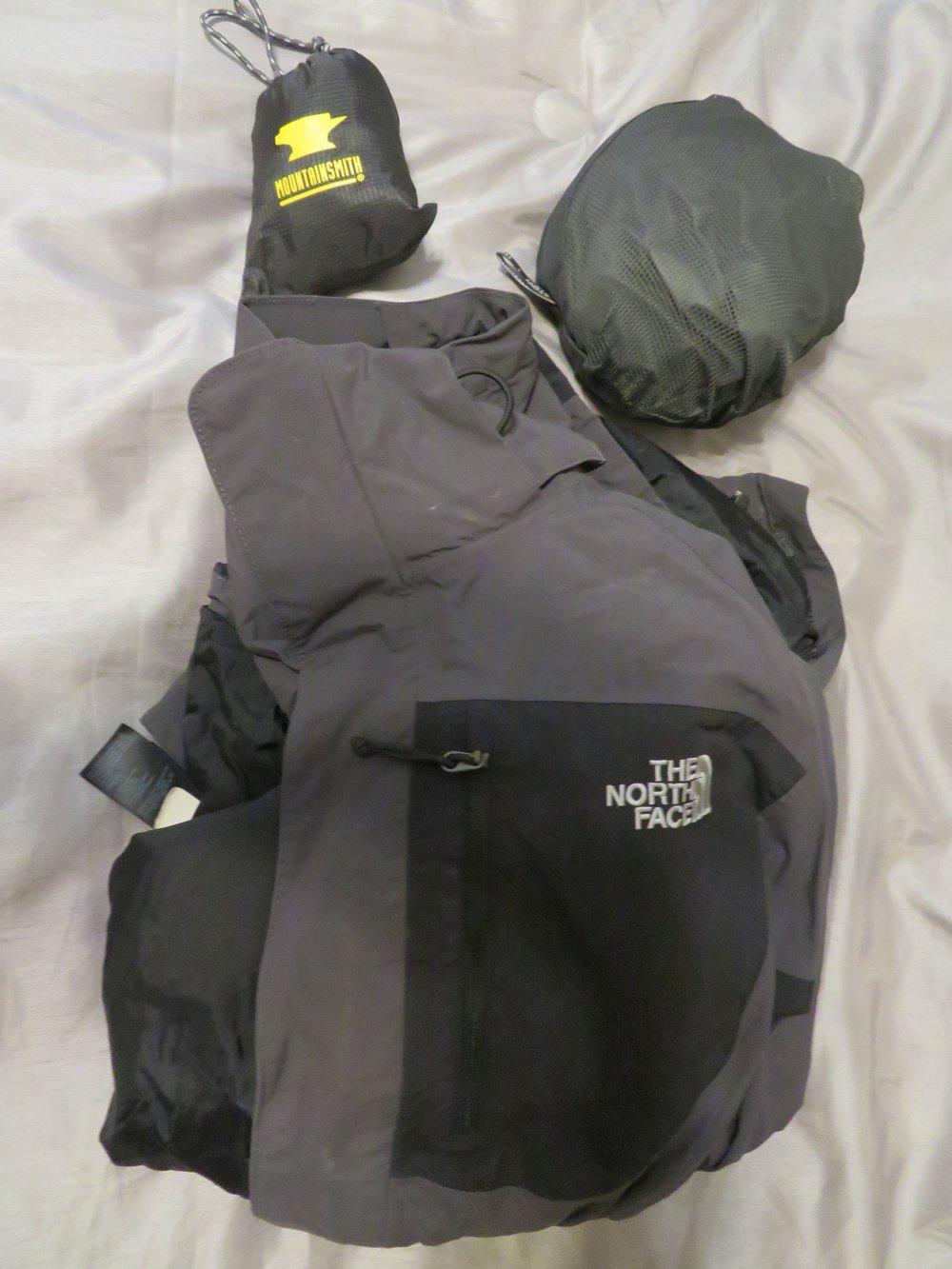 David's rain gear - pack cover, rain pants and rain jacket