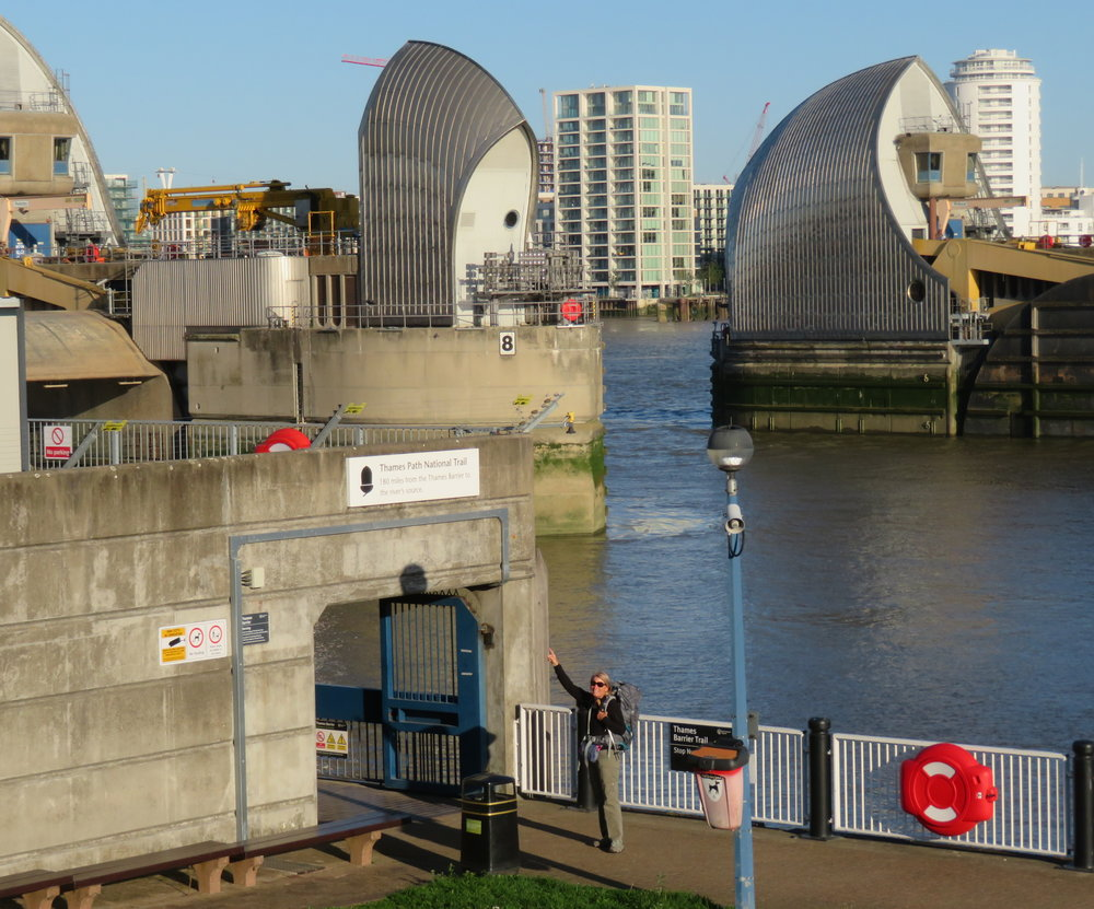 Well, we're here at the Thames Barrier, all geared up and ready to go. Let's get on with it!