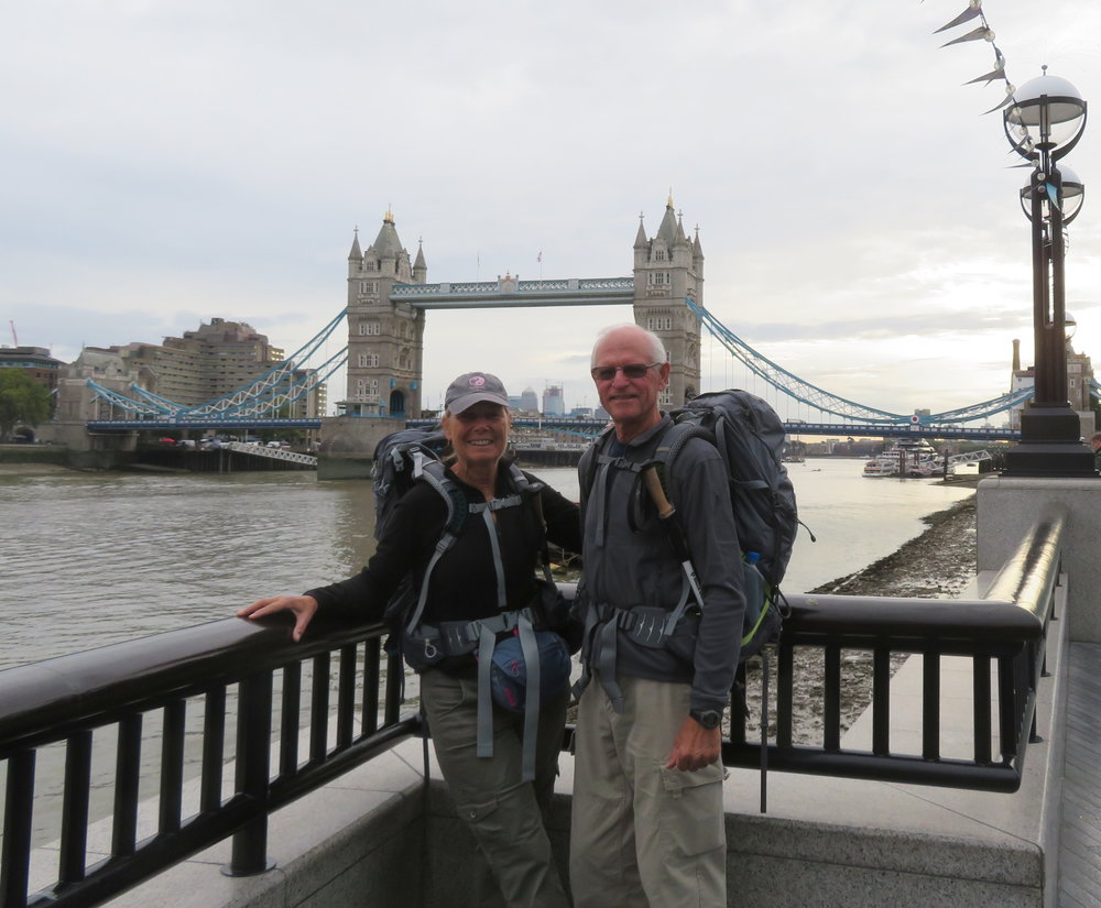 We rejoined the path at the Tower Bridge