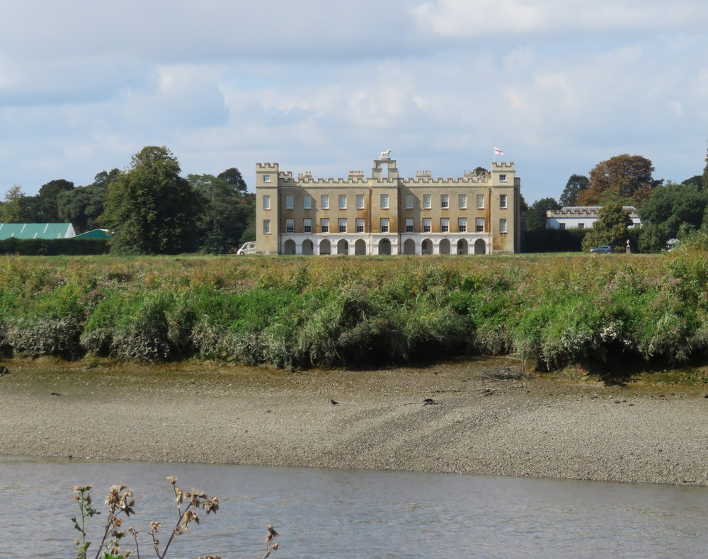 A view of Syon House from our bench on the south bank of the river
