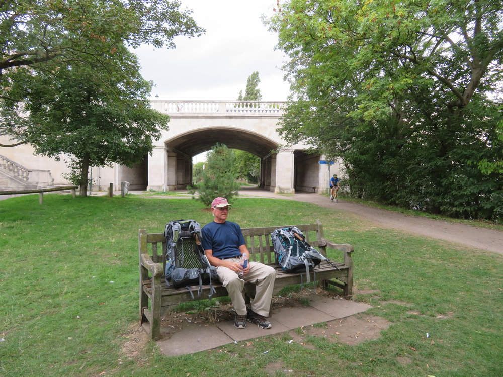 We enjoy taking a breather now and then … like taking a rest at Chiswick Bridge