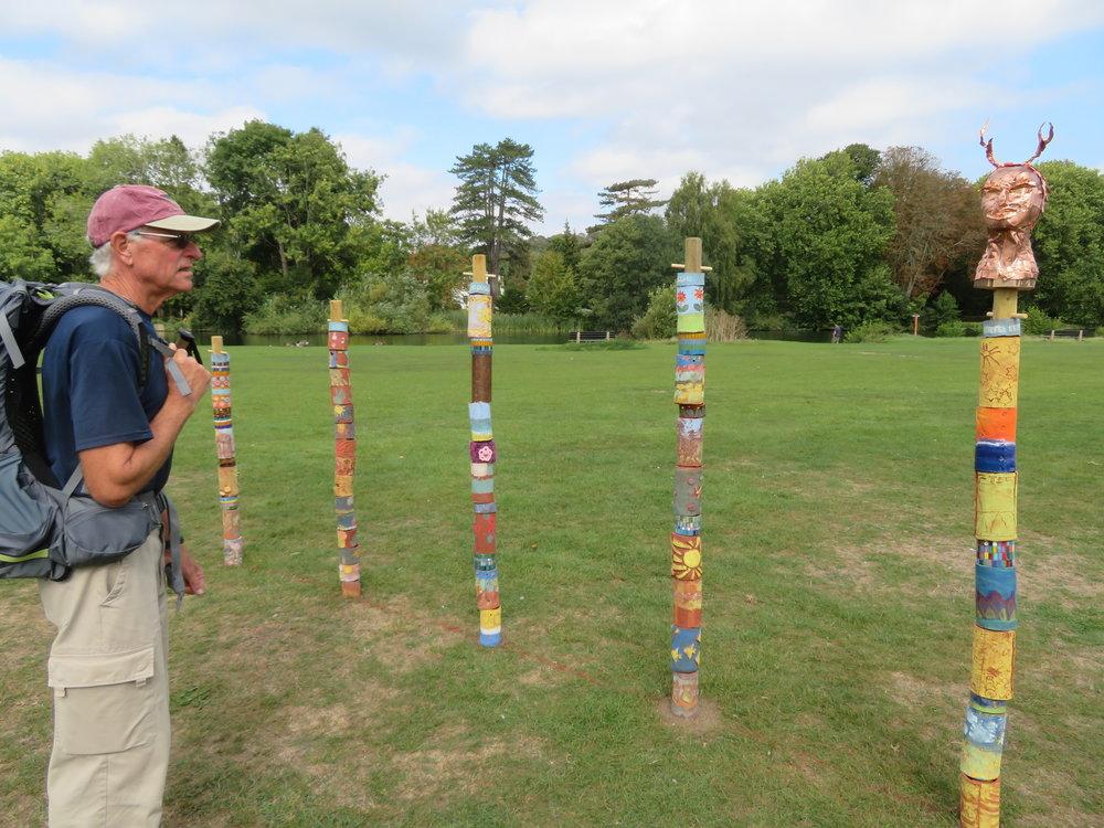Totem poles at Pangborne Meadow