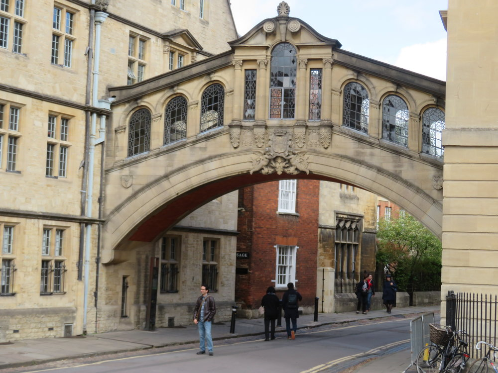 The Bridge of Sighs  … Oxford University - an icon of the city and the university.