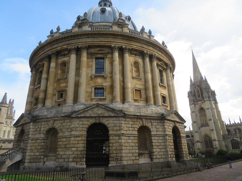 Not far away from the Bodleian is the Radcliffe Camera, Oxford's esteemed science library.