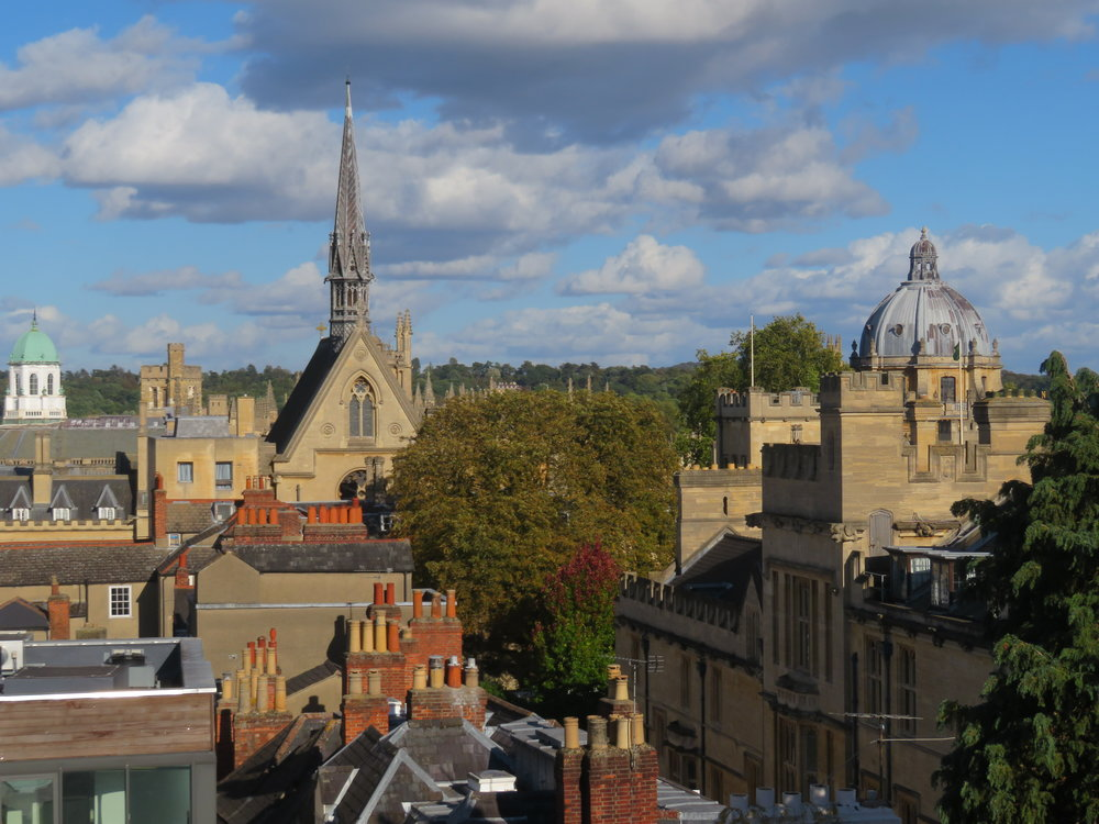 View of Oxford from the top of the Saxon Tower