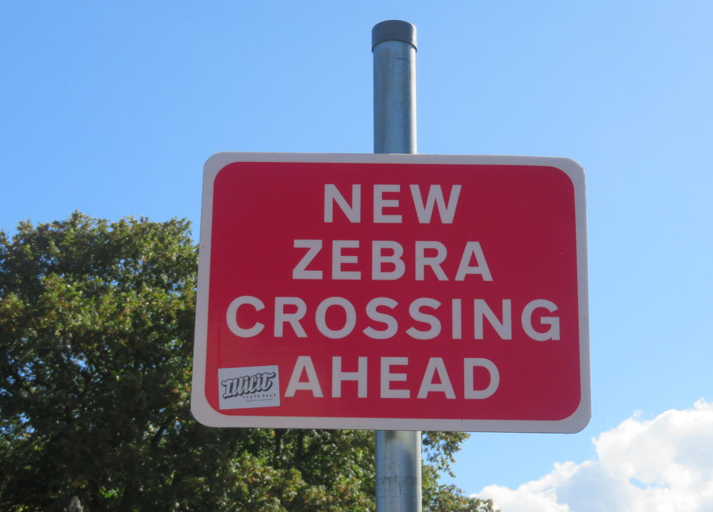 No zebras in sight, but having been in many other British Commonwealth countries, we knew this meant a 'crosswalk'. Did you know that Americans pronounce 'zee-bra', but Brits pronounce it 'zeh-bra'?