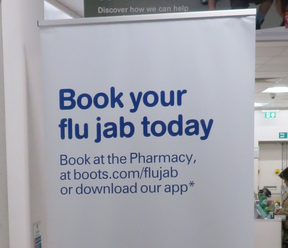 Flu   jab  ? Sounds like a rough way to get a flu shot.