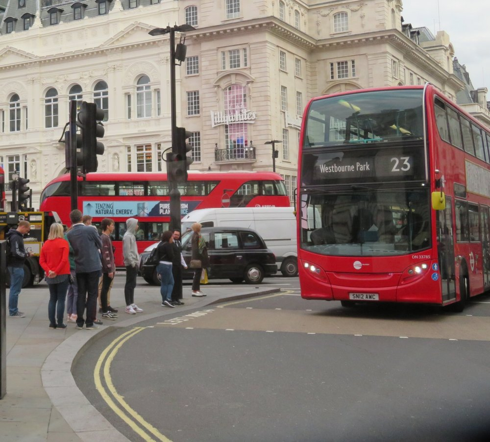 An iconic British double-decker bus