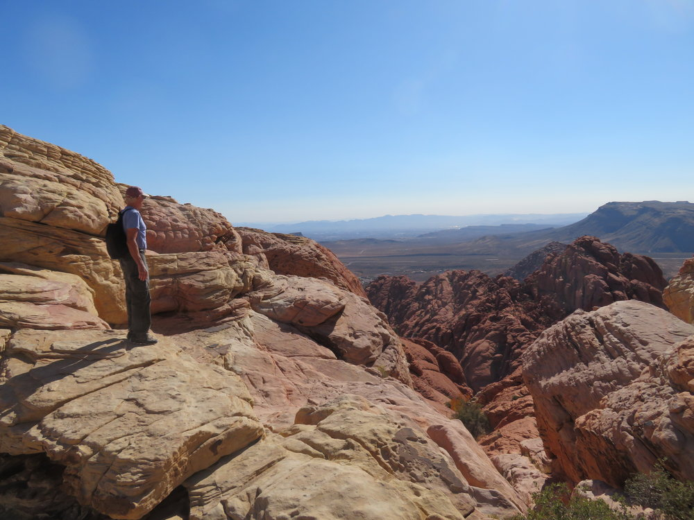 The view of the Las Vegas valley from the top of the Calico Tanks trail was worth the effort of the climb.