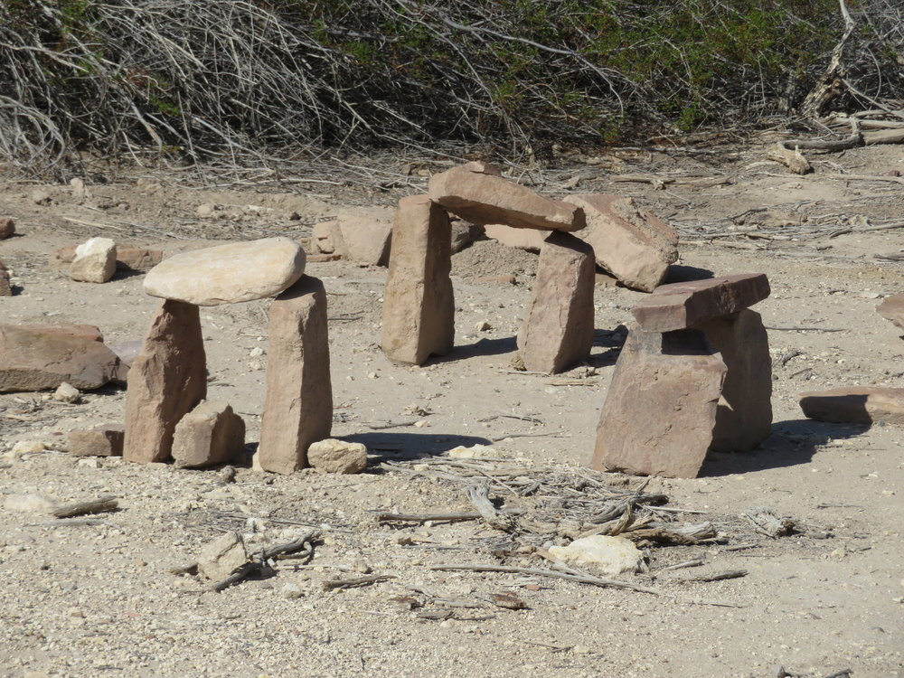 What? A mini-Stonehenge in the middle of the desert?