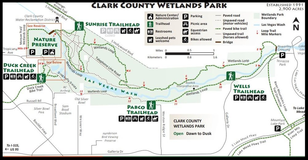 The Wetlands Nature Preserve is only a small part of the Clark County Wetlands Park.