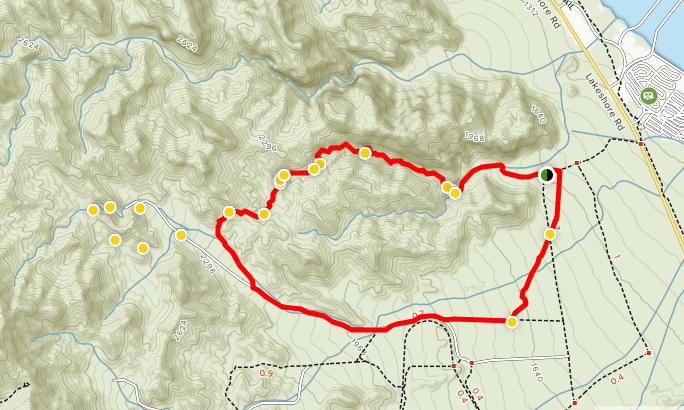 All Trails map of Seven Falls Canyon Trail