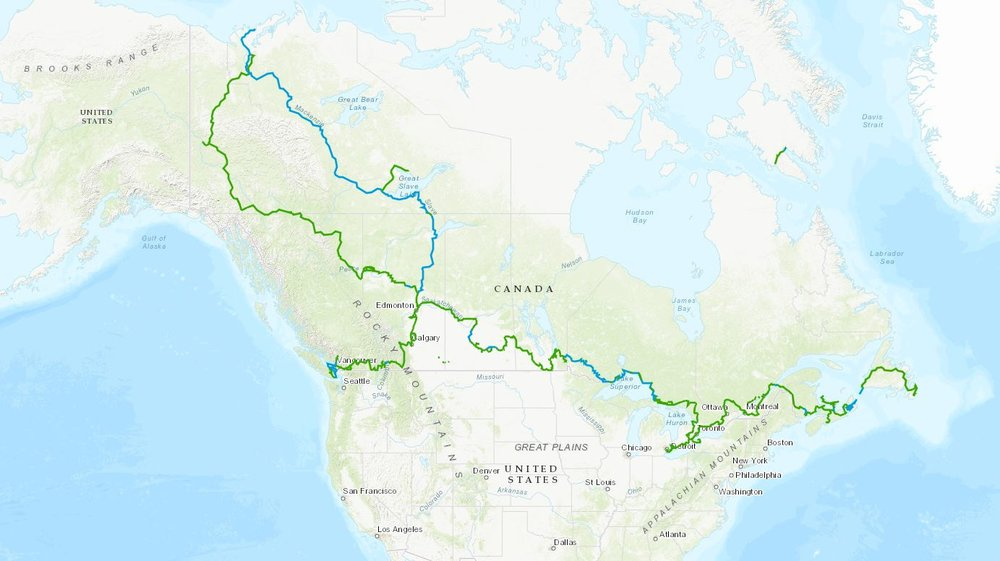 The Great Trail of Canada - only 14,913 miles